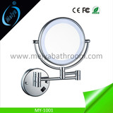 wall mounted double side LED makeup mirror