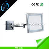 rectangle wall mounted double side LED magnifying mirror