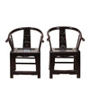 A pair of Chair, Black antique, Ming dynasty chair.