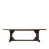 Chinese antique reclaimed elm wood rustic carving dining table