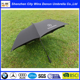 china manufactory pretty luxury advertising black auto open windproof golf umbrella wholesale