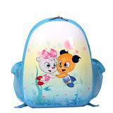 Blue SMJM Oval Shape Kid Backpack,Small Cute Backpacks for Kids