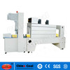 BZJ5038B Bottle packing Semi-Automatic shrink sleeve labeling machine and BSE5040A PE Film shrink packaging machine