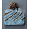 handmade crochet hat winter warm knitted beanie hat with pom pom