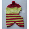 winter warm striped cowl hat woolen knitted hat