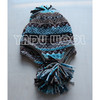 earflaps knitted hat winter warm pom pom beanie hat