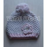 Hand-made winter warm hat pom pom