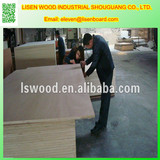 White Melamine faced plywood for Furniture,E1 grade Melamine laminated plywood