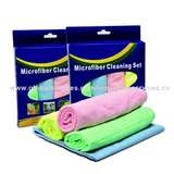 Microfiber Various 4-pack Cleaning Clothes, Soft/Comfortable, Suitable for Various Cars/Multipurpose