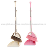 Plastic broom with long steel handle