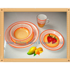 16pcs tableware handpainted stoneware dinner set,various designs are available