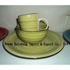 stoneware 12pcs handpainted dinner set,various designs are available