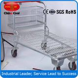 RH-LH Warehouse cargo flat metal logistic trolley