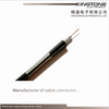 RG11 CATV Coaxial Cable with Messenger Copper Clad Steel Conductor PE Jacket