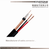 VR - 90P Solid PE CCTV Black Coaxial Cable 22 AWG BC Conductor