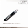 75 Ohm Dual RG6 Coaxial Cable with Messenger CE Standard for CCTV CATV Transmission