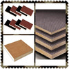 Linyi factory supply construction plywood/2 times hot press film faced plywood
