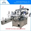 bottle label applicator automatic double side sticker labelling machine plastic bottle labeling machine
