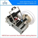 Higee excellent semi automatic round bottle label applicator machine with fixed-position function