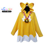 Doll girl Ichimatsu Kohina cosplay costumes fox cloak cosplay costumes with Tail and bell