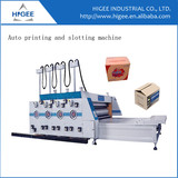 Carton box making machine printing and slotting machine