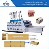Corrugated cardboard carton box making machine Auto feeding printing and slotting machine