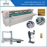 Automatic creasing and pressing die cutting machine