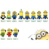 cartoon usb flash drive 4GB 8GB 16GB 32GB 64GB Minions pendrives cartoon usb stick disk mix model