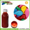 Complete colors aqueous pigment preparation for latex balloon tinting