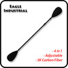4-pieces adjustable Carbon Fiber kayak paddle