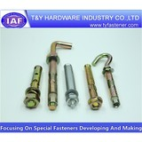Zinc plated anchor bolt, non standard,anchor bolt with nuts