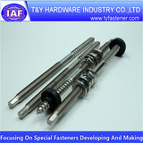 Steel  zinc screw,hanger bolts,solar bolts with nuts China supplier