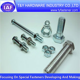 Steel  zinc screw, all types of bolts nuts China supplier