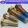Zinc plated hex bolts, long hex bolt China supplier