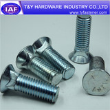 zinc plated,low carbon steel,middle carbon steel round head bolts