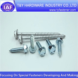 Zinc plated screws,Hex flange screws