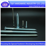 Steel zinc plated wood anchor bolts and screws