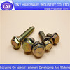 Yellow zinc hex flange bolts