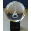 3d laser engraving crystal sport ball glass sphere
