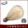 Amber shell 2200k 2500k ETL UL 4W 6W dimmable Vintage ETL UL LED Filament bulb