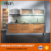 PVC Simple Designs Paste veneer Small Kitchen Furniture