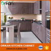 Fancy modern Melamine panels Wood grain lacquer finish stoving cupboard