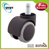 """2"""" (50mm) Office Chair Soft Caster Wheels With Stem 7/16"""" X 7/8"""" (11*22mm)"""