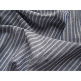 Shirting striped linen cotton yarn dyed fabric in bulk
