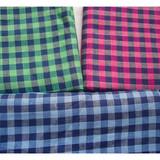 plaid woven check linen fabric