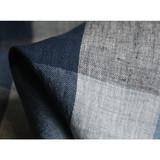 big checked linen fabric