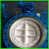 Hydro Power Plant Construction Eccentric Type Flange Butterfly Valve