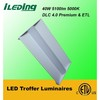 DLC premium certification 2x4 led troffer luminair 5000k