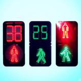 Pedestrian Traffic Light with Countdown Meter