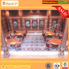 BISINI Italian Design Gorgeous Round Dinning Table and Chairs for Banquet Hall,Five Stars Hotel Restaurant Dining Furniture Set (BK0109-0018)